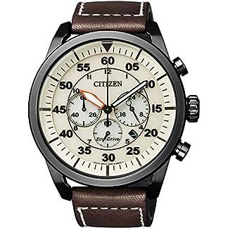 Citizen–Reloj de Pulsera para Hombre XL Cronógrafo Cuarzo Piel ca4215–04W