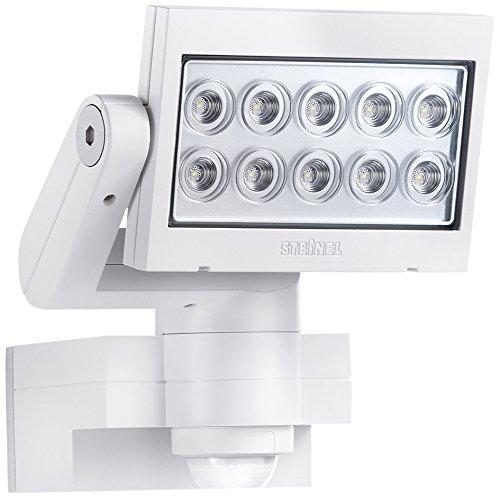 Steinel Strahler mit Bewegungsmelder inklusive eingebauten 30 W LED, IP44 ,  20,5 x 20 x 22 cm, weiß XLED10WEISS