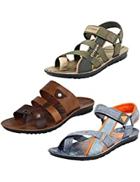 Earton Men Combo Pack of 3 (Sandals) &Floaters with slipper