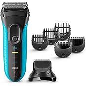Braun Series 3 Shave&Style 3010BT, 3-in-1 Elektrischer Rasierer (Wet&Dry Rasierapparat, Elektrorasierer mit Präzisionstrimmer und fünf Kammaufsätzen) blau/schwarz