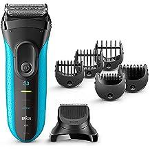 Braun Series 3 3010BT Wet & Dry - Afeitadora eléctrica recargable 3 en 1 con tecnología Wet&Dry y recortadora de precisión