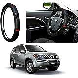 Auto Pearl - Adinox Premium Quality Ring Type Car Steering Wheel Cover (Diamond Plus Black Red) For -Mahindra XUV 500
