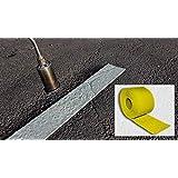 Carretera Línea marcado amarillo funda 100mm de ancho, 5m de largo
