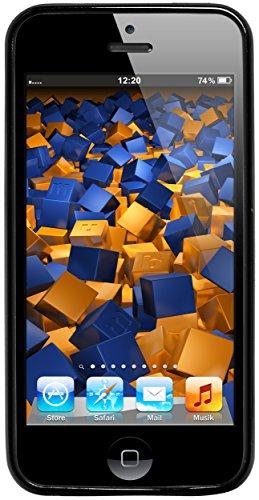 mumbi Coque de protection pour iPhone SE/5/5s Motif Mandala Griffonnage Noir