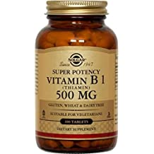 Solgar Vitamin B1 Thiamin Tablets, 500 mg, 100 Count