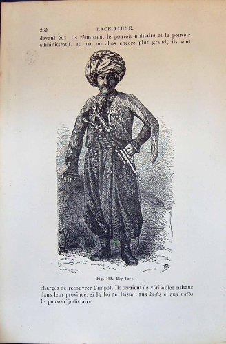 Menschliche Rassen Humaines Figuier des Bey (1880 Kostüm)