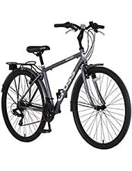 Cruz Malvern 700C–Bicicleta híbrida para hombre y regalo cable de seguridad y bloqueo
