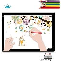 HUION A3 Caja de Luz Tablero de Trazado de Dibujo para Animación Artística Diseño Artesanal con Pinza Sujetapapeles de Metal