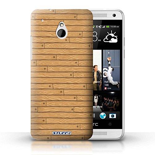 Kobalt® Imprimé Etui / Coque pour HTC One/1 Mini / Beige conception / Série Motif Bois Beige