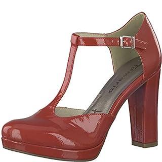 Tamaris 1-1-24409-20 Damen Pumps, Slipper, Sommerschuhe für die modebewusste Frau rot (Chili PATENT), EU 38