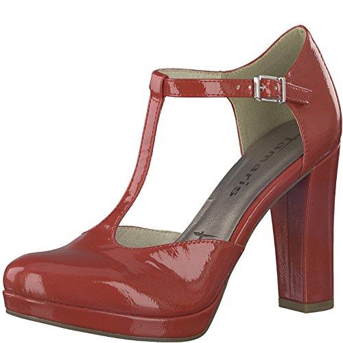 Tamaris 1-1-24409-20 Damen Pumps, Slipper, Sommerschuhe für Die Modebewusste Frau Rot (Chili Patent), EU 37