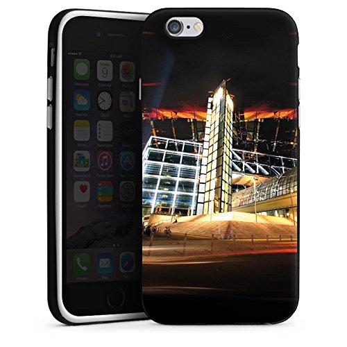 Apple iPhone X Silikon Hülle Case Schutzhülle Hauptbahnhof in Berlin Nacht Lichter Silikon Case schwarz / weiß