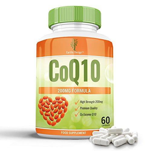 Coenzym Q10 200 mg – CoQ10-Nahrungsergänzungsmittel – Hochdosiertes CoQ10 – 60 Kapseln (30 Tage Vorrat) von Earths Design - 3