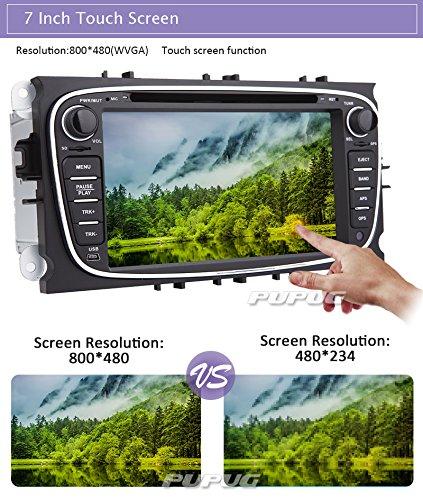 Win8 interface de navigation GPS ¨¤ ¨¦cran tactile st¨¦r¨¦o Autoradio lecteur DVD pour Ford Focus Mondeo Galaxy S-max avec CANBUS NAVI BT MIC FM AM SD USB Comprend LED Cam¨¦ra de recul + 4GB carte carte (USA, Canada)
