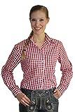 Klassisches DamenTrachtenhemd 3/4 Arm Farbe rot, hellblau oder lila Gr. 32-50 (38, rot)