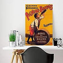Fhdang Decor Brasserie Pignoux-bourges personnalisés, Plaque en métal, Plaque en métal, décoration de Chambre, personnalisé Panneau, 25,4x 35,6cm
