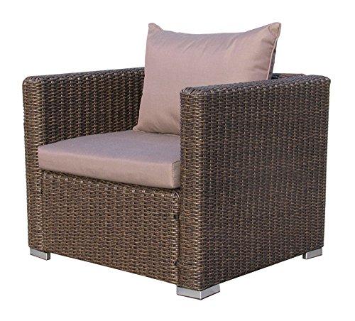 Famous Home GRASEKAMP Qualität seit 1972 Rattan Loungesessel 80cm Pepe Braun Sofa Relaxsessel Schlafsessel Lounge Sessel