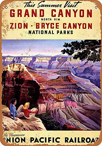 Wise Degree Metal Poster Union Pacific Railroad to The Grand Canyon Zion Bryce Metall Poster Wand Küche Kunst Cafe Garage Shop Bar Dekoration