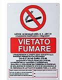 takestop® CARTELLO vietato fumare LEGGE TRASGRESSORI SEGNALETICA DIREZIONALE SICUREZZA AVVERTIMENTO PLASTIFICATO