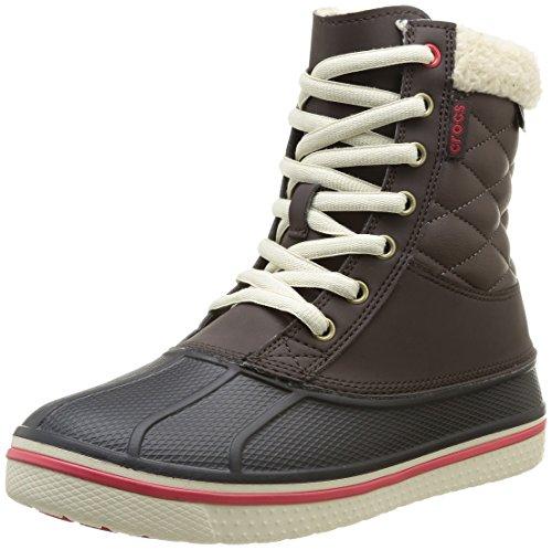 Crocs Allcast Waterproof Duck Boot W, Scarpe sportive, Uomo, Marrone (Esrd), 36.5