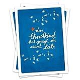 10x Weihnachtskarten: Das CHRISTKIND hat gesagt, du warst lieb, SET Postkarten für Weihnachten, Weihnachtspostkarten Set