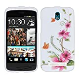 kwmobile HTC Desire 500 Hülle - Handyhülle für HTC Desire 500 - Handy Case in Pink Grün Weiß