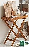 SAM Tablett Luigi mit Ständer, klappbar, Akazien-Holz, Servierwagen, ideal für Balkon, Terrasse oder Garten, FSC® 100 % zertifiziert