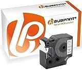 Bubprint Schriftband kompatibel für Dymo 53713 S0720930 für Labelmanager 300 400 450 450D 500TS PC PC-2 Mobile Labeler Schwarz auf Weiß 24mm x 7m