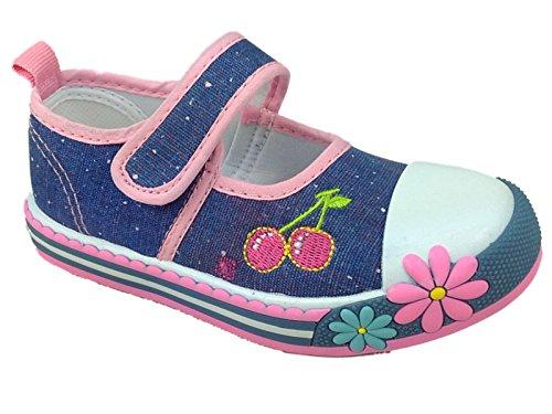 Foster Footwear , Mädchen Sneaker Pink rose 36.5 Cherry Denim