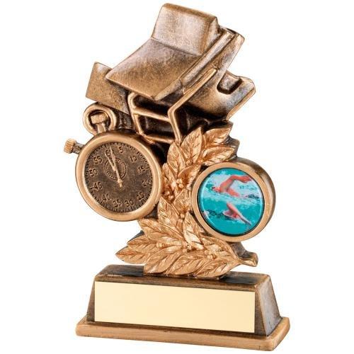 12,7cm Kunstharz Schwimmen Trophy Award gratis Gravur bis zu 30Buchstaben