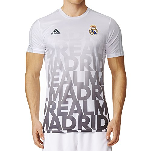 Shirt Match Herren (adidas - Trikots - Real Madrid Home Pre-Match Shirt - White - M)