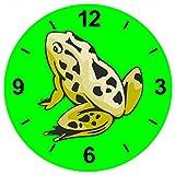 'Cristal Reloj 'Rana pie ranas animales pequeños Estanque de reloj de pared estante de vidrio...