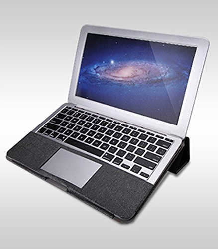 YiJee Custodia Copertina Pelle Sintetica Cover Rigida Duro Caso per Macbook Air 11.6/13.3 Pollice 13.3R Inch Grigio