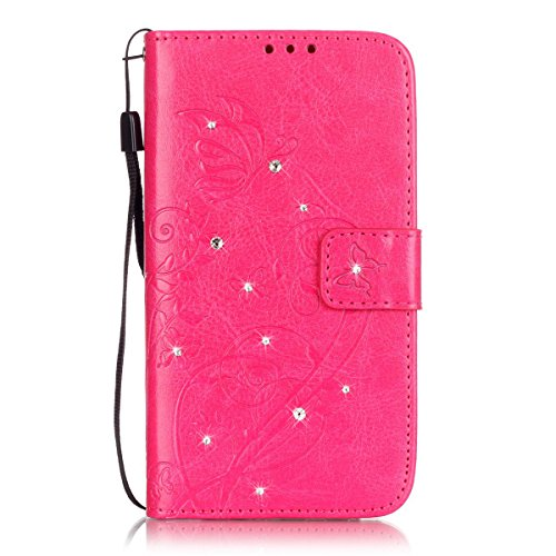iphone 5C Custodia, Ekakashop Lusso Diamante Design Flip Folio PU Leather Book Wallet Custodia Tasca Chiusura Magnetica Stile del libro del Protettiva in Pelle Stand Cassa Case Cover per Apple iphone  C#16