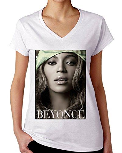 beyonce-singer-portrait-graphic-design-womens-v-neck-t-shirt-medium