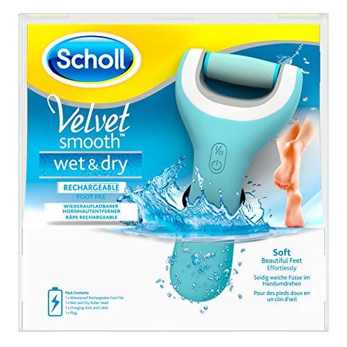 Scholl - Velvet Smooth Express Pedi - Râpe Electrique anti-callosités pour les pieds - Etanche et Rechargeable