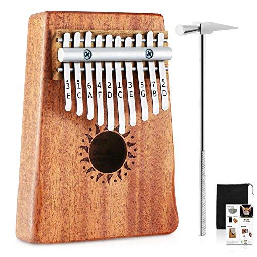 Donner Daumenklavier Kalimba Instrument 10 Schlüssel Solid Finger Klavier Mahagoni DKL-10