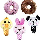 UEETEK Perro juguetes chirriantes para perros alimento Animal peluche cachorro perro juguetes pequeños (pack 5)