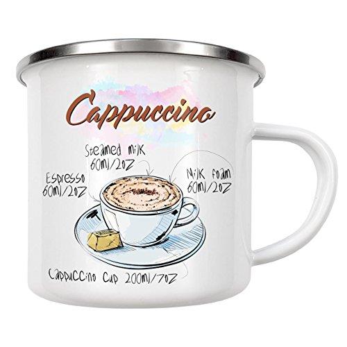 Cappuccino Rezept Für (artboxONE Emaille Tasse