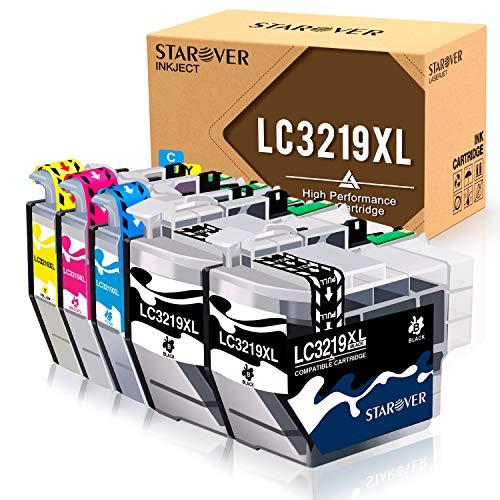 STAROVER 5 Paquete LC3219 XL LC3219XL Cartuchos De