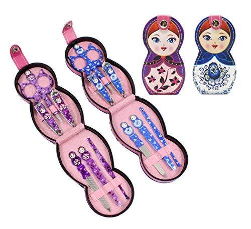 Hillent adorables muñeca patrón acero inoxidable manicura personal pedicura...