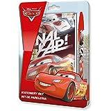 Kids licensing–wd17465–Set de papelería de un cuaderno y bolígrafo con tapa Cars