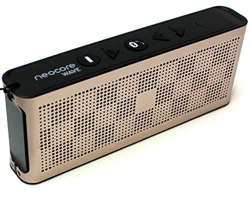 neocore Wave 10W l'Enceinte Bluetooth Portable avec Autonomie de 24 Heures, NFC,Imperméable,Port Micro SD, Radio FM, Micro et Basses Renforcées