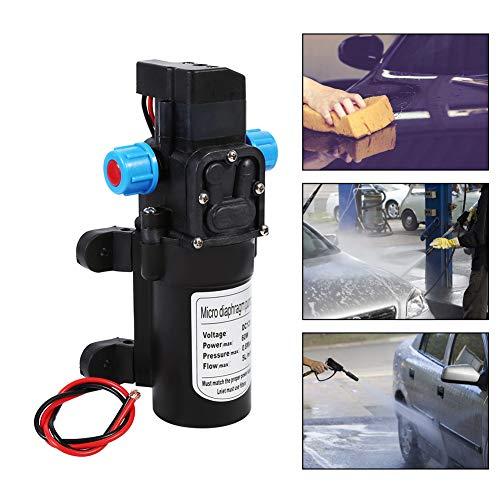 Hochdruck-Mikro-Membran-Wasserpumpe, 12 V, 5 l/min, 60 W, automatischer Schalter, selbstansaugende Pumpe für Wohnwagen, Boot, Wohnmobil, Garten -