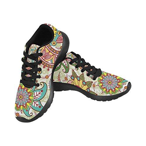 Zapatillas De Running Para Mujer Zenzzle Black Black Color2