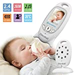 Video Baby Monitor, 2.0'' LCD Baby Monitor with Digital Camera, 2.4GHz Wireless Transmission Two Way Talk, Night Vision Temperature Monitoring