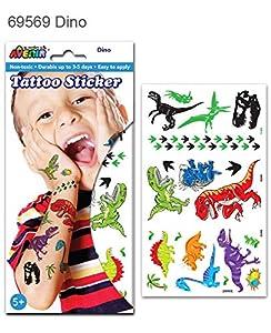 Avenir- Tatuaje Grande Dinosaurios, Color Coloreado (AVE69569)