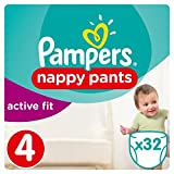 Pampers Active Fit Pants Größe 4 Essential Pack 32 Windeln