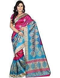 e-VASTRAM Women's Mysore Silk Without Blouse Piece Saree (Ns4A_Pink)