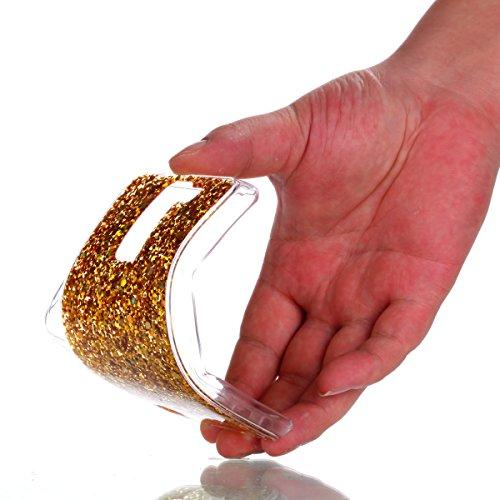 LG K7/K8 Custodia, Cover per LG K7/K8, LG K7 / LG K8 Custodia Silicone, JAWSEU Moda Stile Lusso Cristallo di Bling Brillante Sparkle Glitter Custodia per LG K7 K8 Back Cover Case Ultra Sottile Flessib Bling Oro